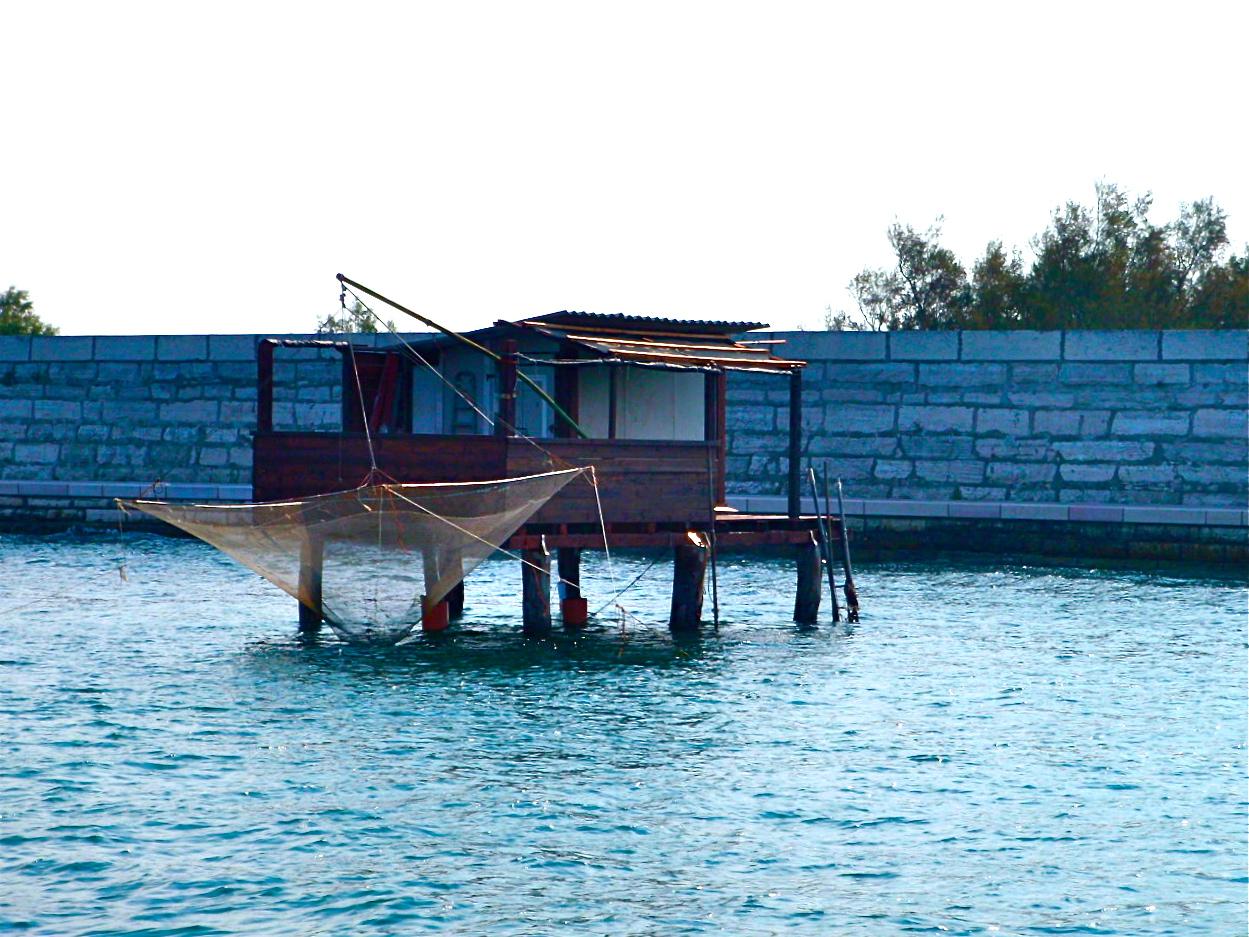 small fishing huts near Chioggia