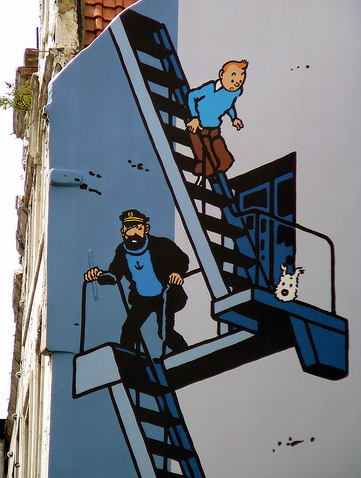 tintin comic wall