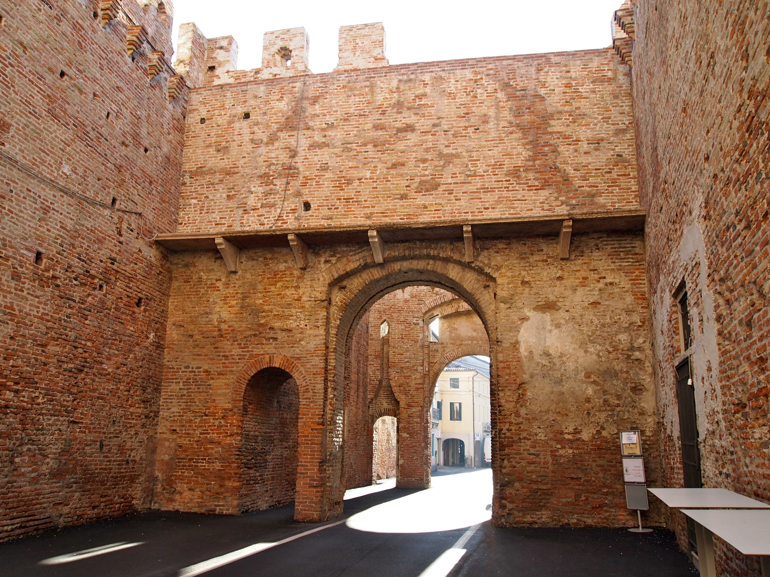 one of the 4 entrance to the city of Cittadella