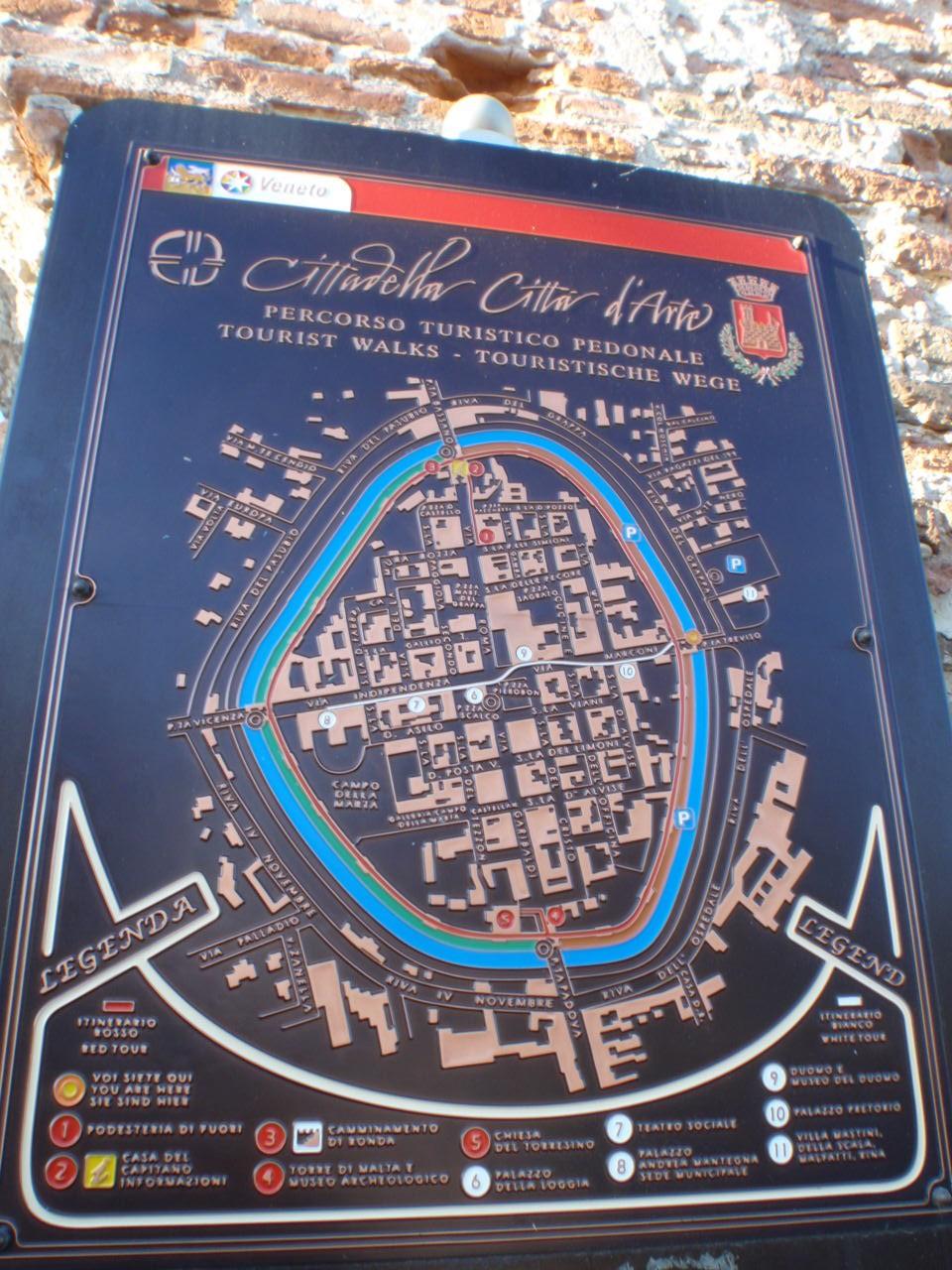 cittadella map