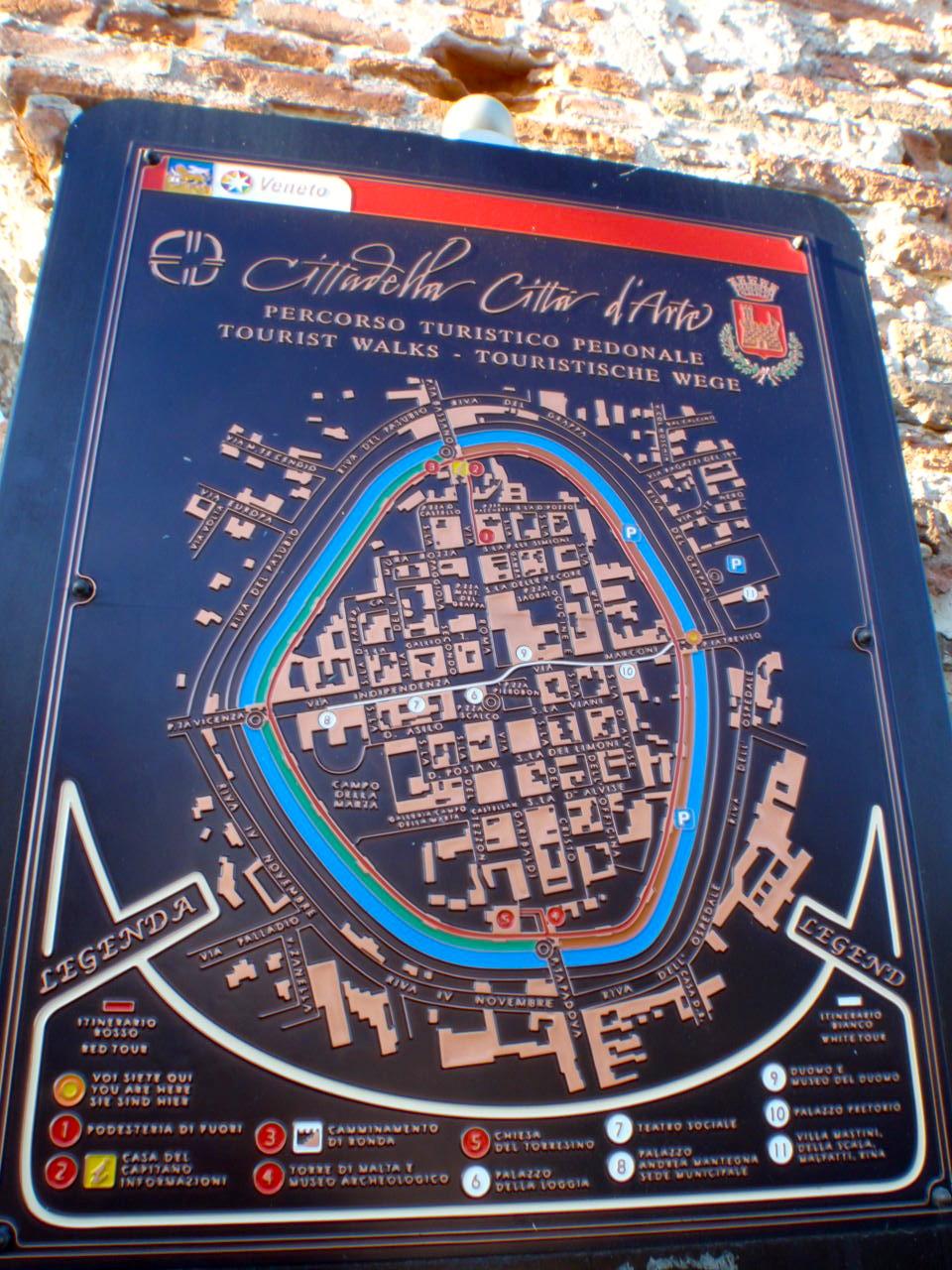 Map of Cittadella