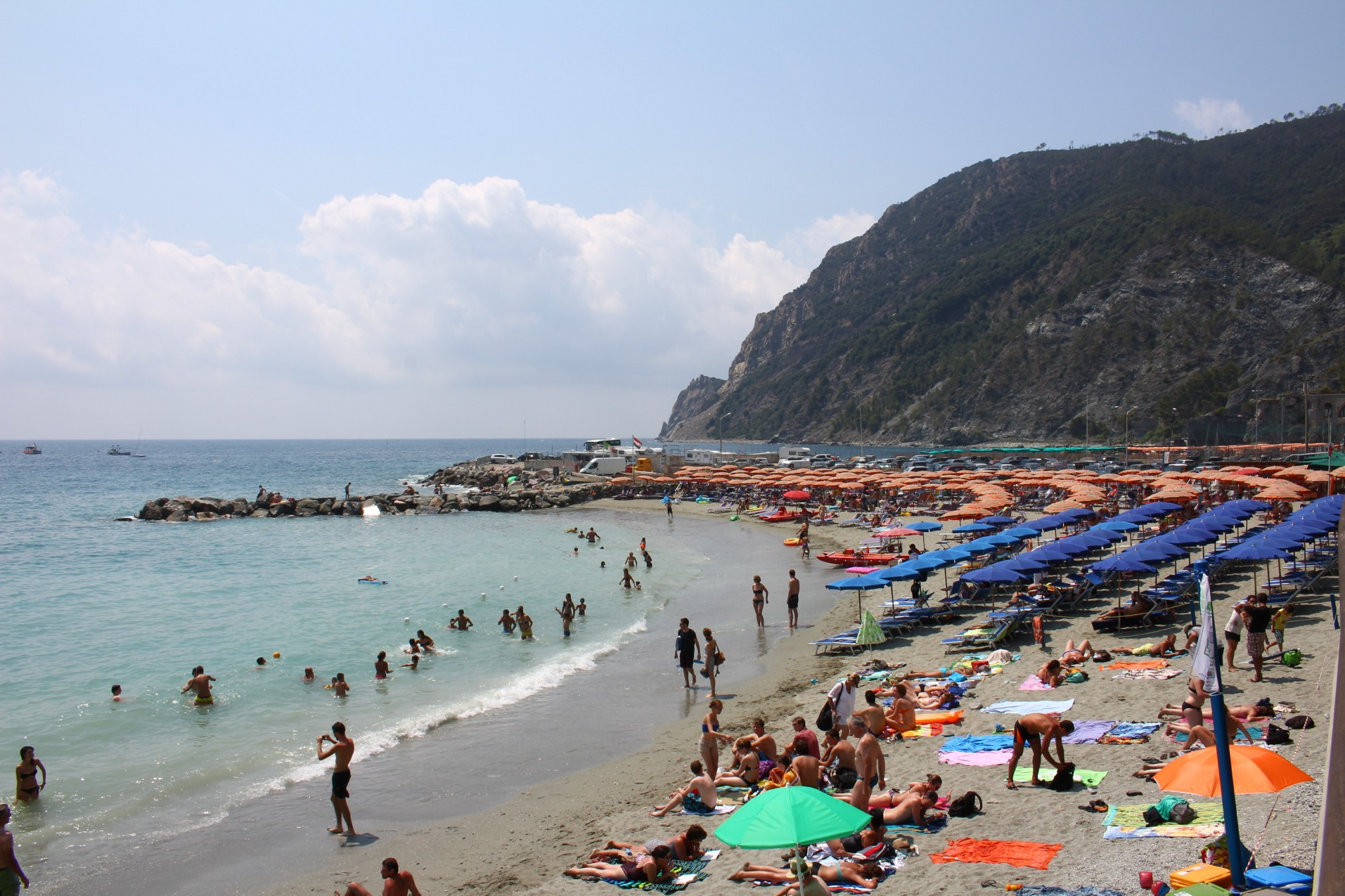 long stretch of beach in Monterosso