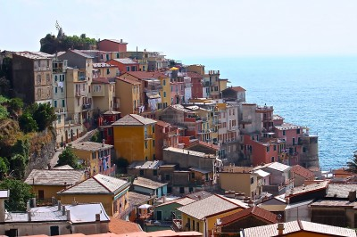another view of colorful town of Corniglia