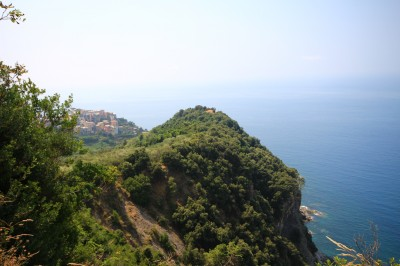 looking back at Corniglia town