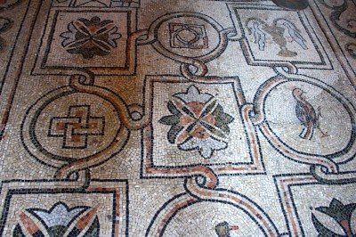 Morsaic floor when you entered