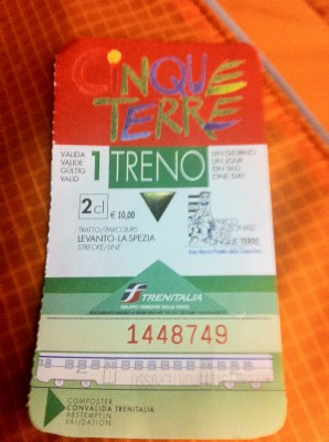 One day cinque terre card